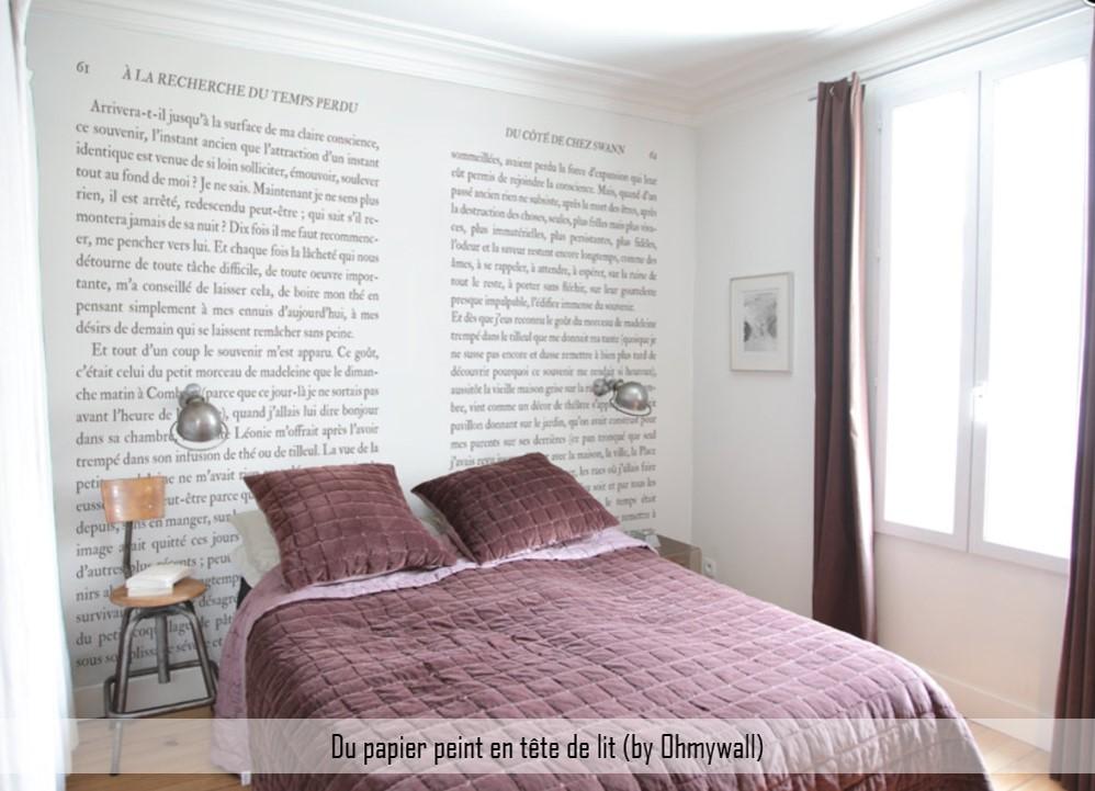 tête de lit papier peint ohmywall