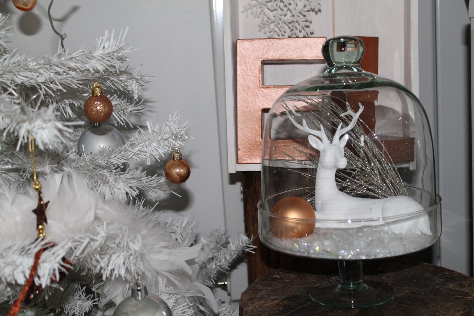 décoration noël blanc & cuivre by secrets déco décoratrice essonne paris 1