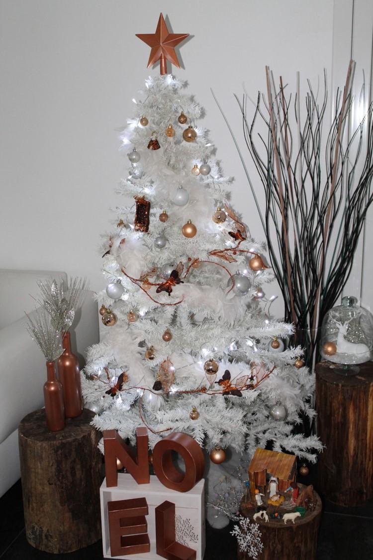 décoration noël blanc & cuivre by secrets déco décoratrice essonne paris
