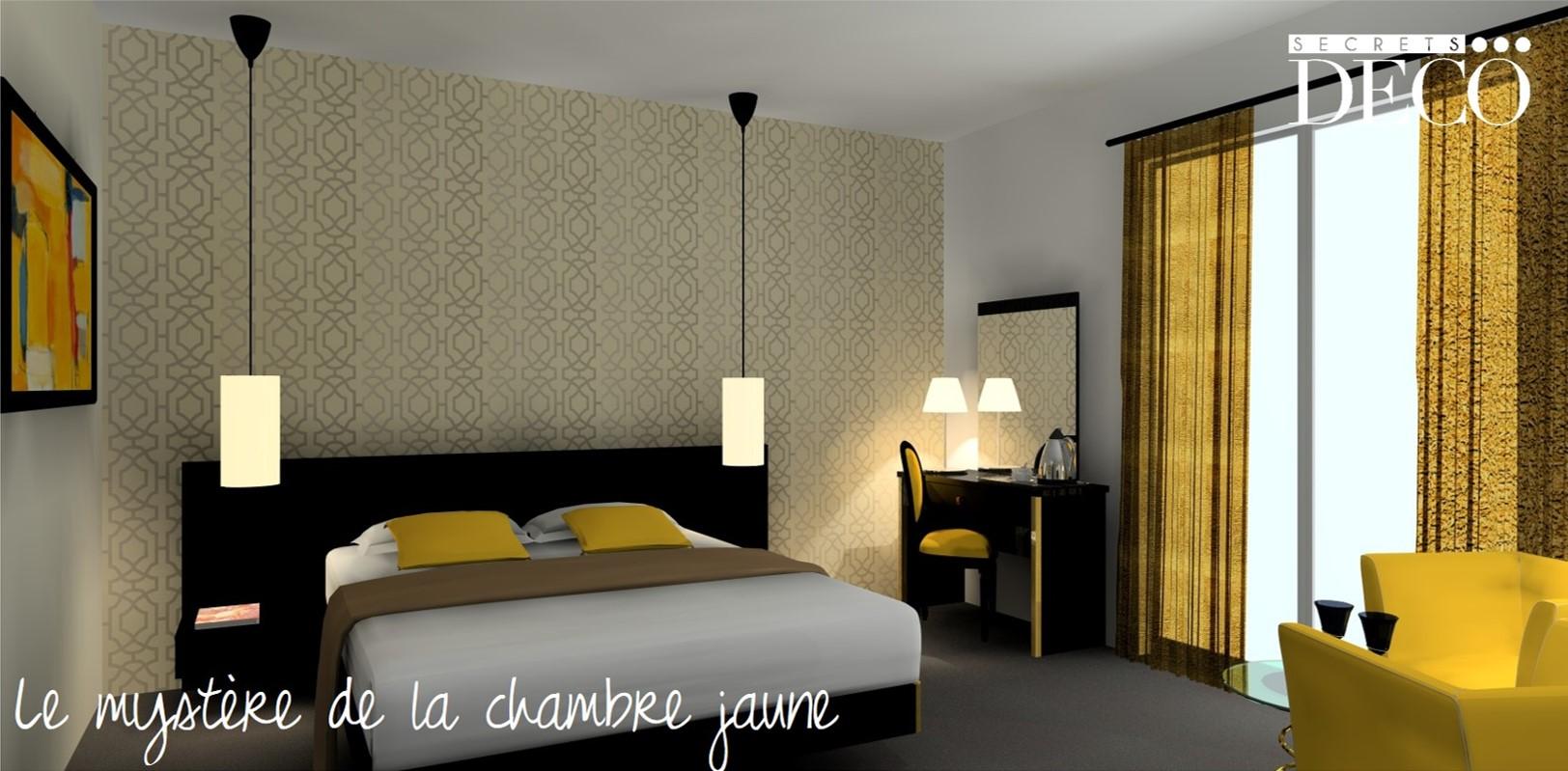 Décoration chambre hôtel paris - Le mystère de la chambre jaune