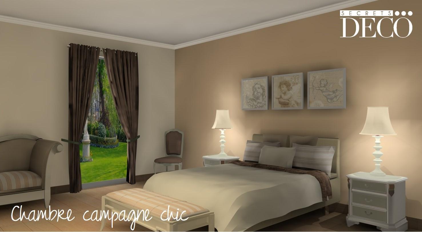 Décoration chambre d'hôtes essonne -Chambre campagne chic
