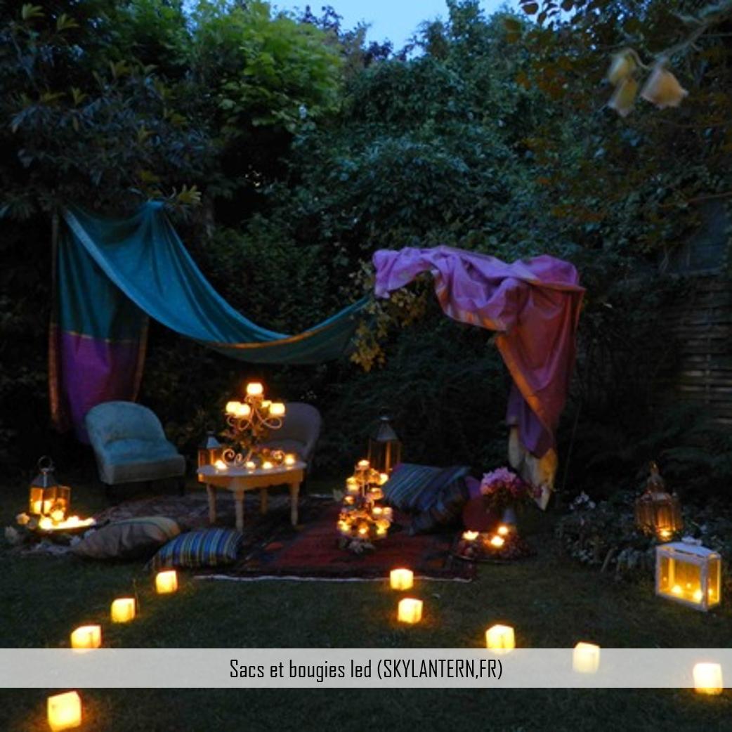 sac bougies led skylantern
