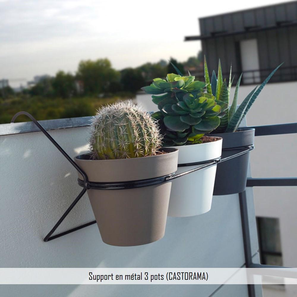 support métal 3 pots castorama