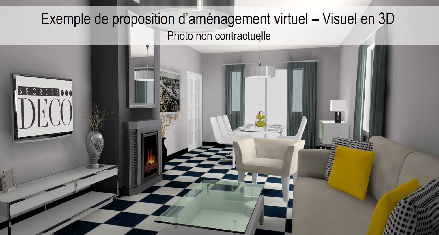 Home staging virtuel maison photo après