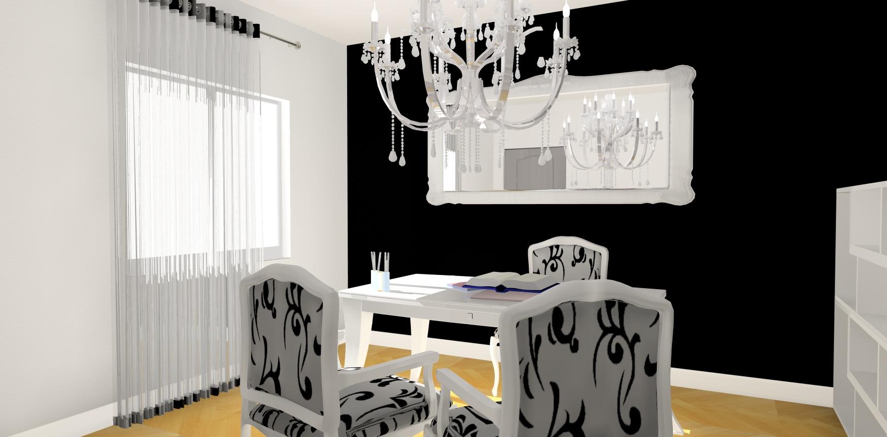 coin bureau noir et blanc en 3D