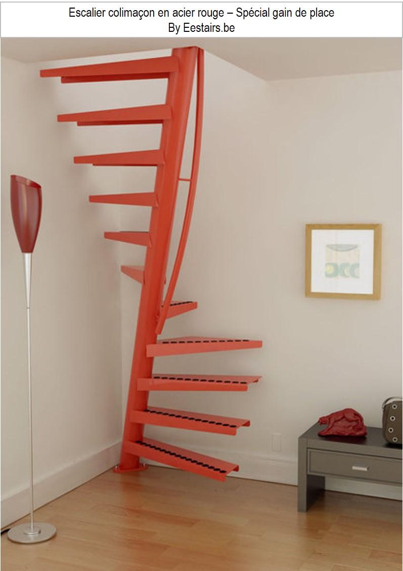 Escalier colimaçon hélocoïdal gain de place