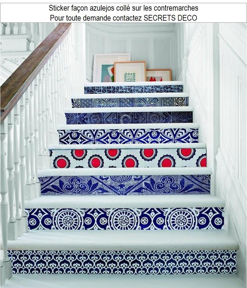 escalier contremarche sticker adhésif