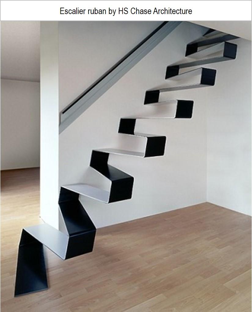 escalier design ruban
