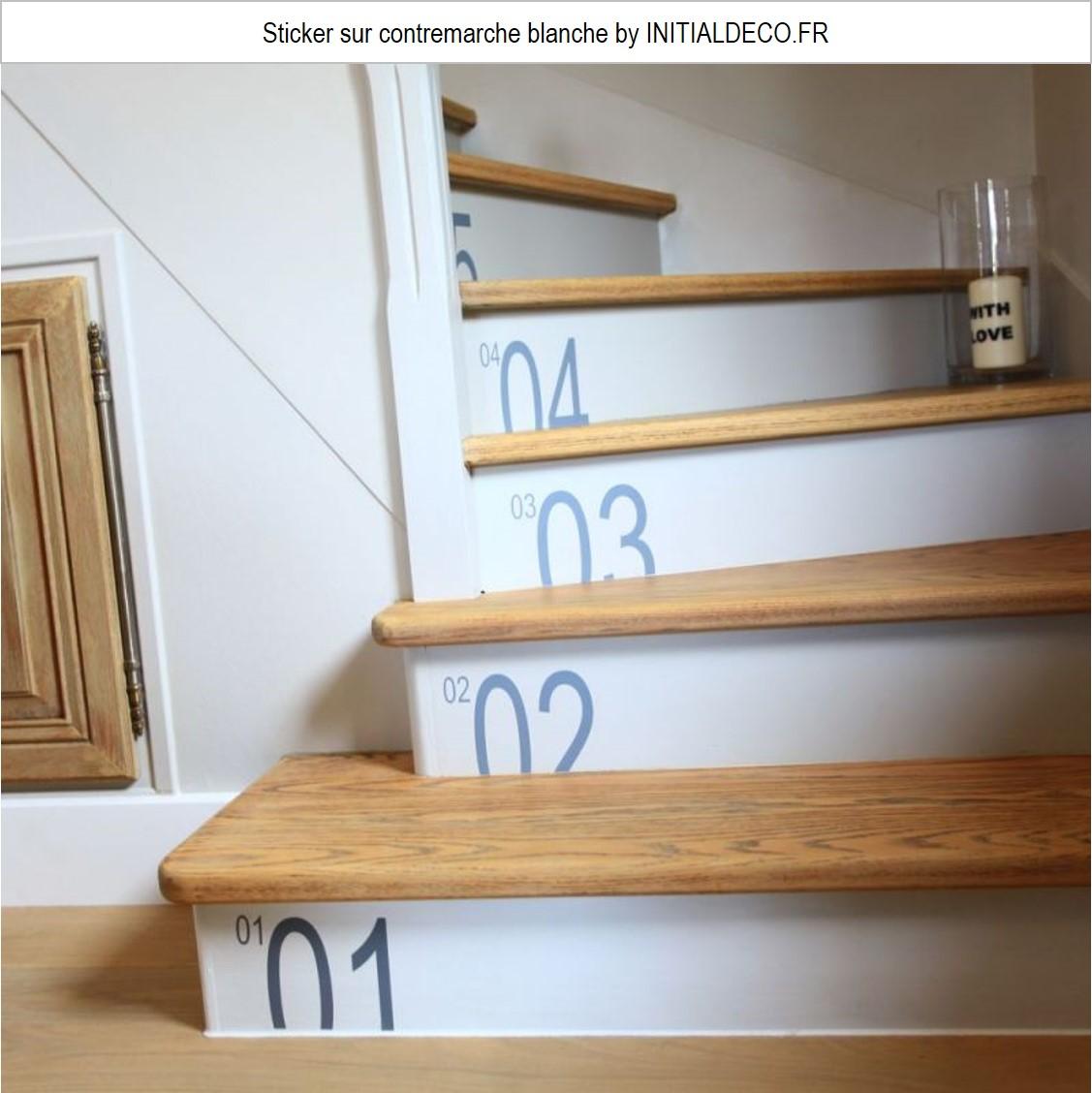 escalier sticker contremarche