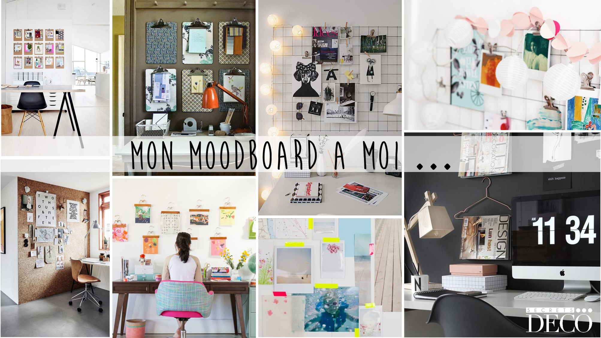 MOODBOARD DECORATION MURS AMENAGEMENT COIN BUREAU BY SECRETS DECO