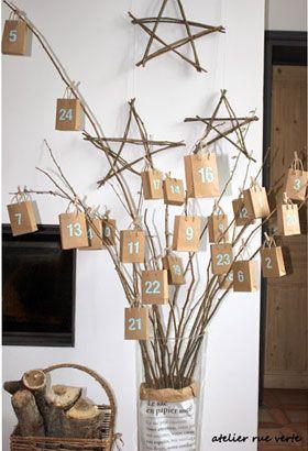 calendrier de l'avent arbre noel 2015