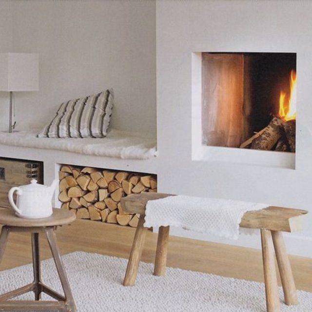 Chemin e ou po le bois des conseils pour passer l 39 hiver au chaud - Banc pour poele a bois ...