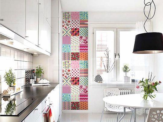 papier peint patchwork