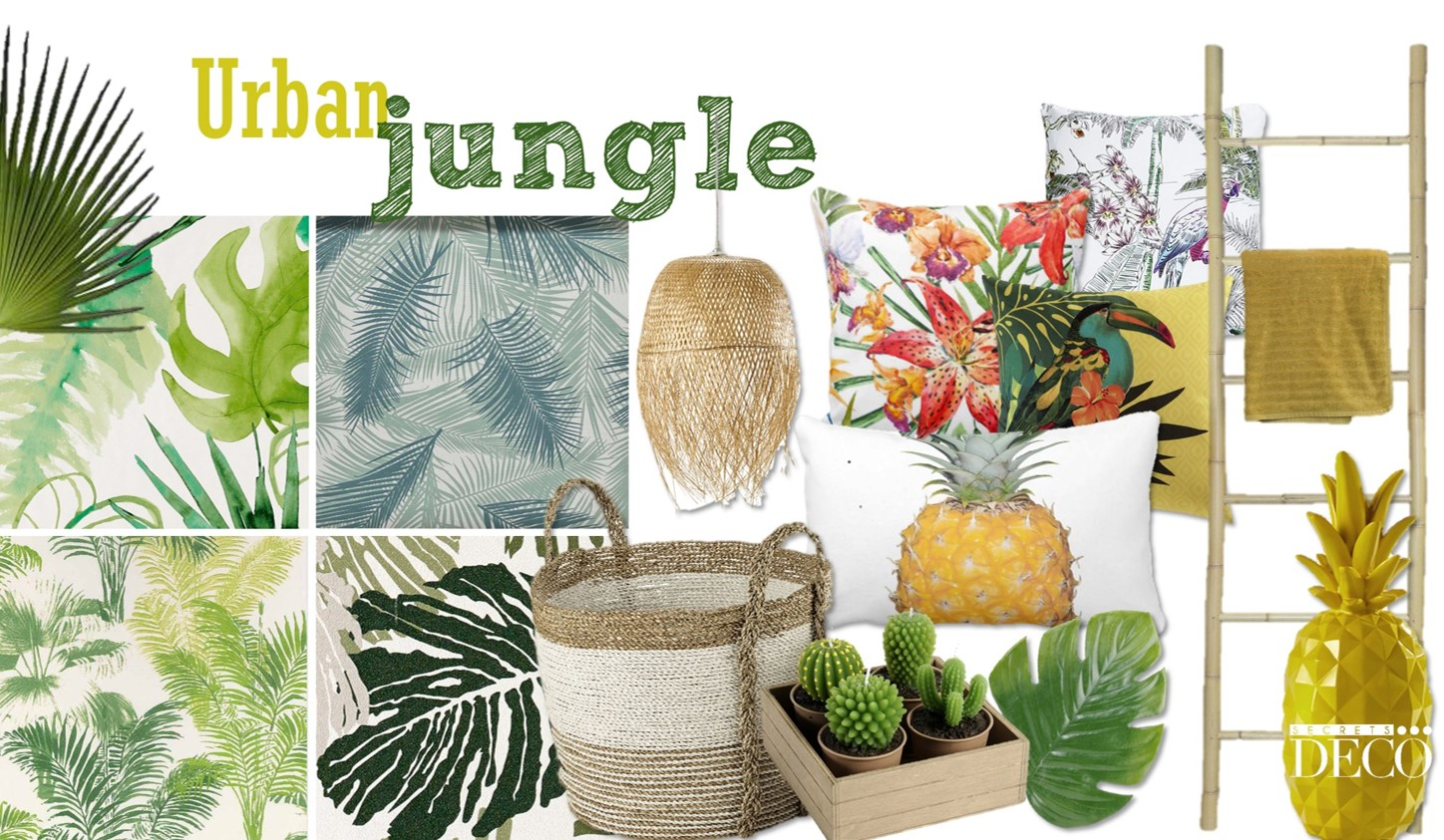 Urban jungle la d coration l 39 esprit tropical for La decoration d interieur