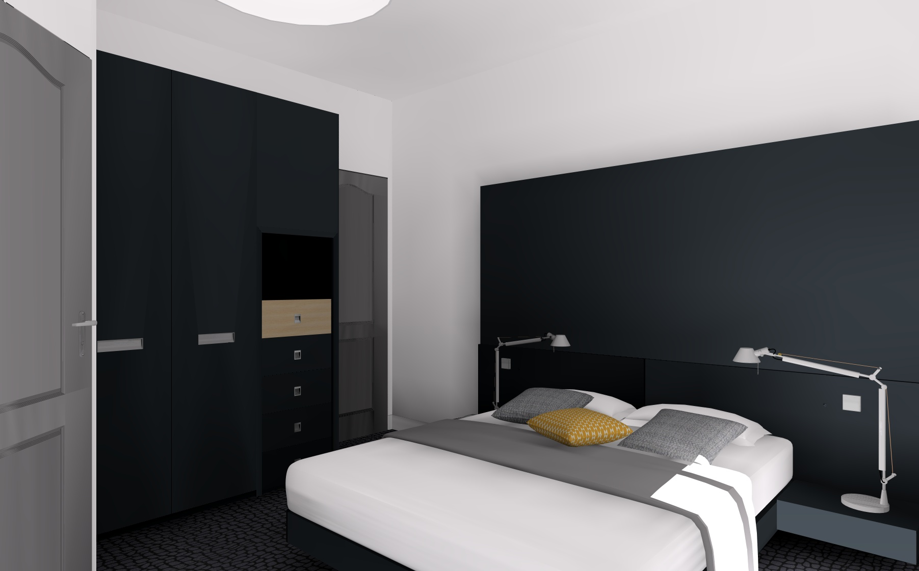 Simulation 3d archives d coration et architecture d for Decoration interieur chambre hotel