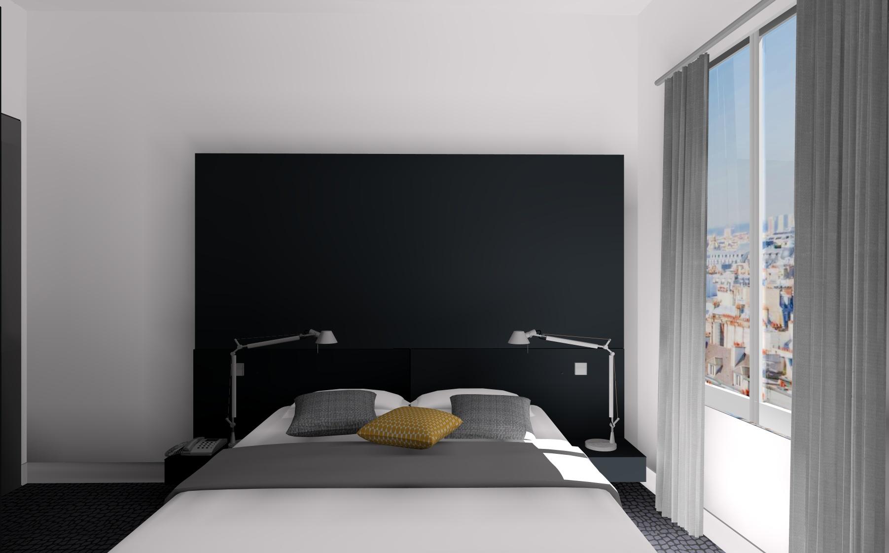 simulation-3d-tete-de-lit-noire-hotel