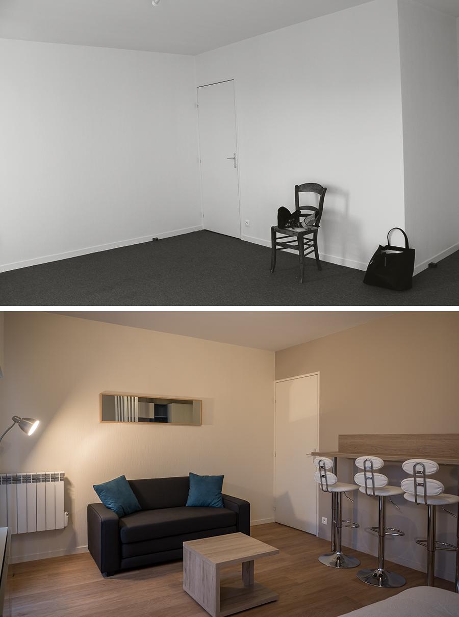 r novation et d coration d 39 un grand studio suresnes 92. Black Bedroom Furniture Sets. Home Design Ideas