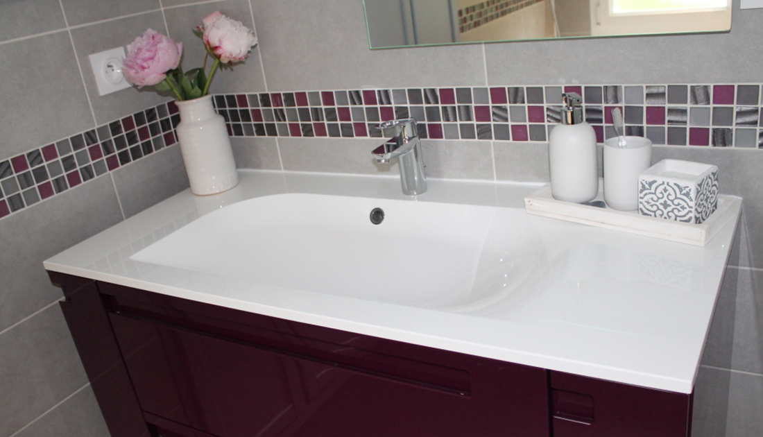 Excellent Renovation Salle De Bain Leroy Merlin Meuble Mosaique With